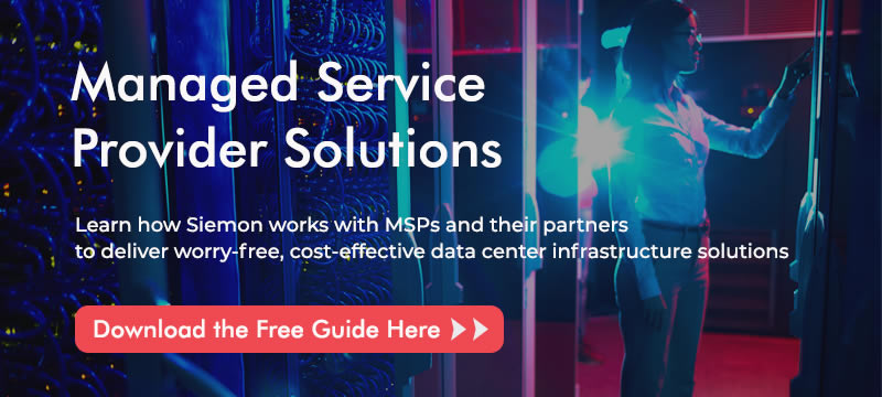 MSP banner in Data center Solutions