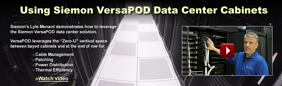 Using Siemon VersaPOD Data Center Cabinets