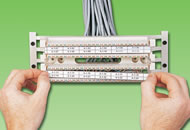 s110 wiring blocks designation strips interchangeable colored labels can be mounted in the center and or outside positions of the wiring block