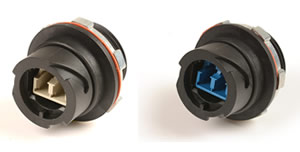 Ruggedized LC Fiber Outlet