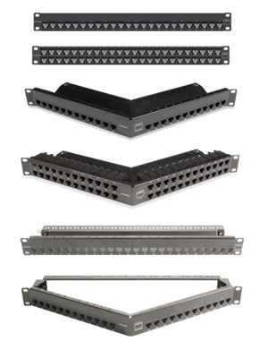 Z-MAX 6A UTP Patch Panels (Flat and Angled)