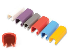 color coded cable clips. Black Bedroom Furniture Sets. Home Design Ideas