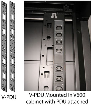 V600 Vertical PDU/Cable Management Bracket