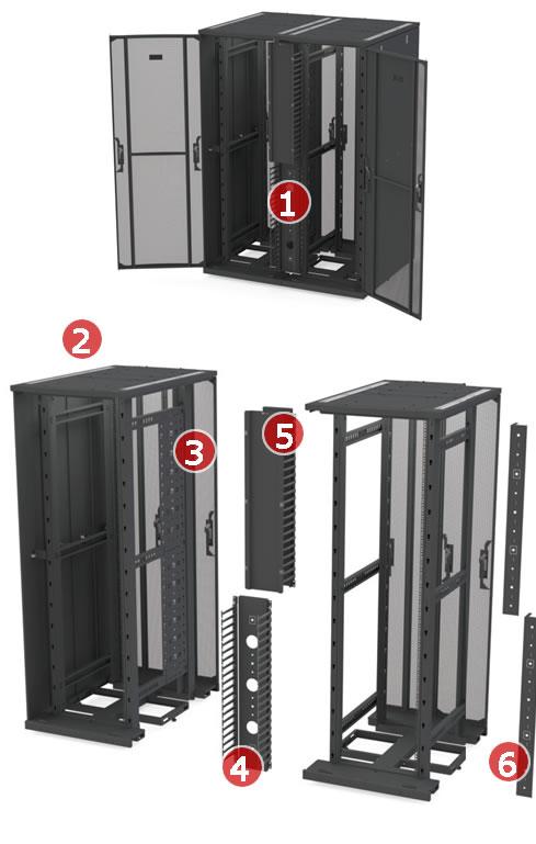 Zero U Cable Management For Versapod Data Centre Cabinet