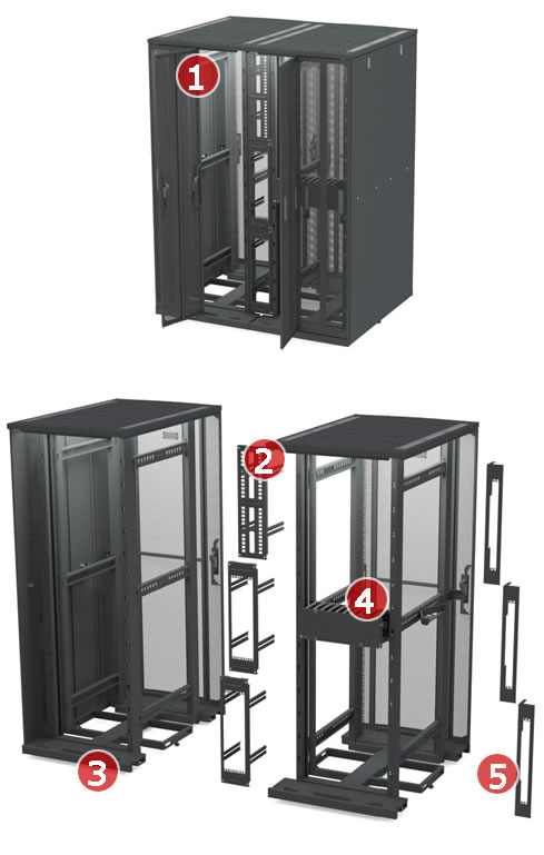 Vertical Data Cabinet Data Centre Cabinets