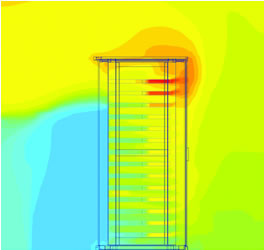 data centre rack thermal analysis